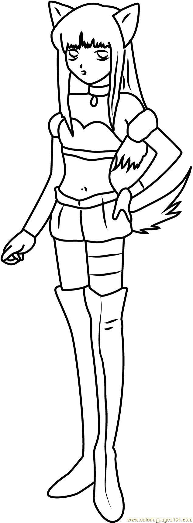 Mew Mew Coloring Page Free Tokyo Mew Mew Coloring Pages