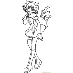 Cute Mew Mew coloring page