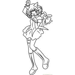 Happy Mew Mew coloring page