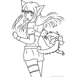 Mew Mew Looking Back Free Coloring Page for Kids