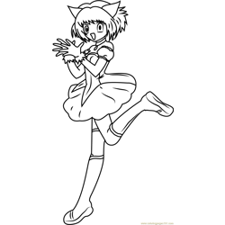 Mew Mew Power Free Coloring Page for Kids