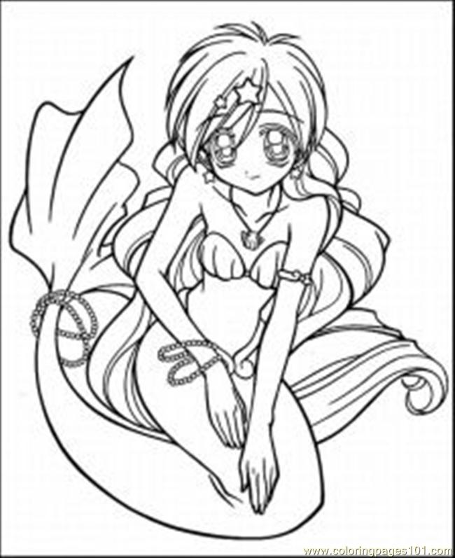 Anime Coloring Pages 92 Med Page