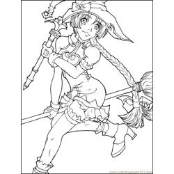 Animedrawing coloring page