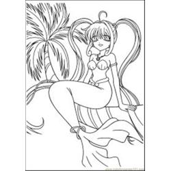 Free Anime Coloring Pages Med coloring page