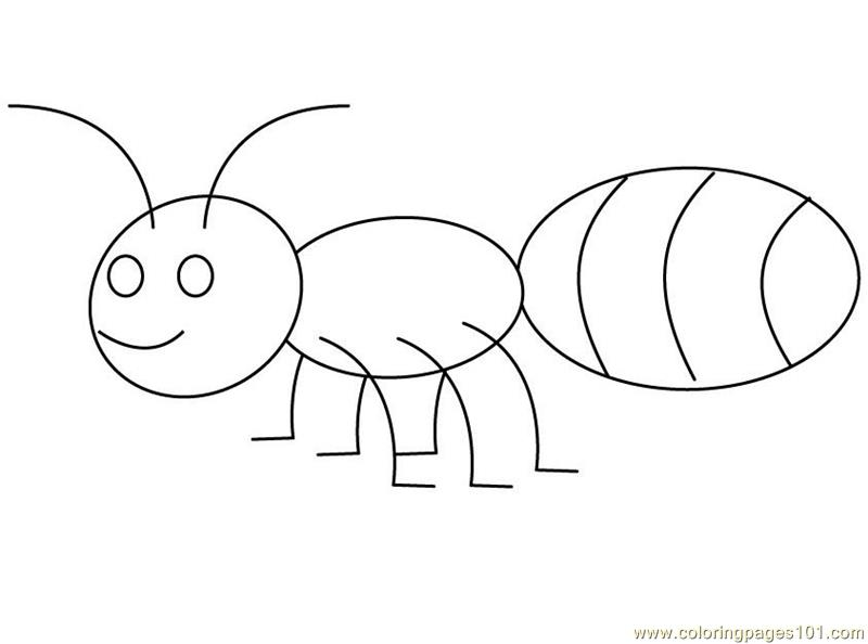 Ant Big Back Coloring Page
