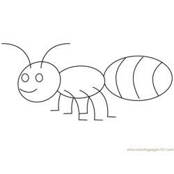 Ant big back Free Coloring Page for Kids
