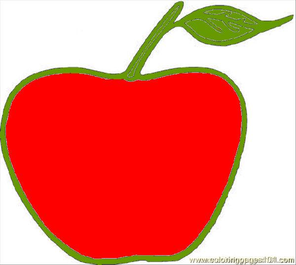 Apple Coloring Page  Free Apples Coloring Pages
