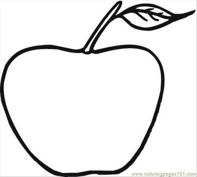 Apple 19 Coloring Page