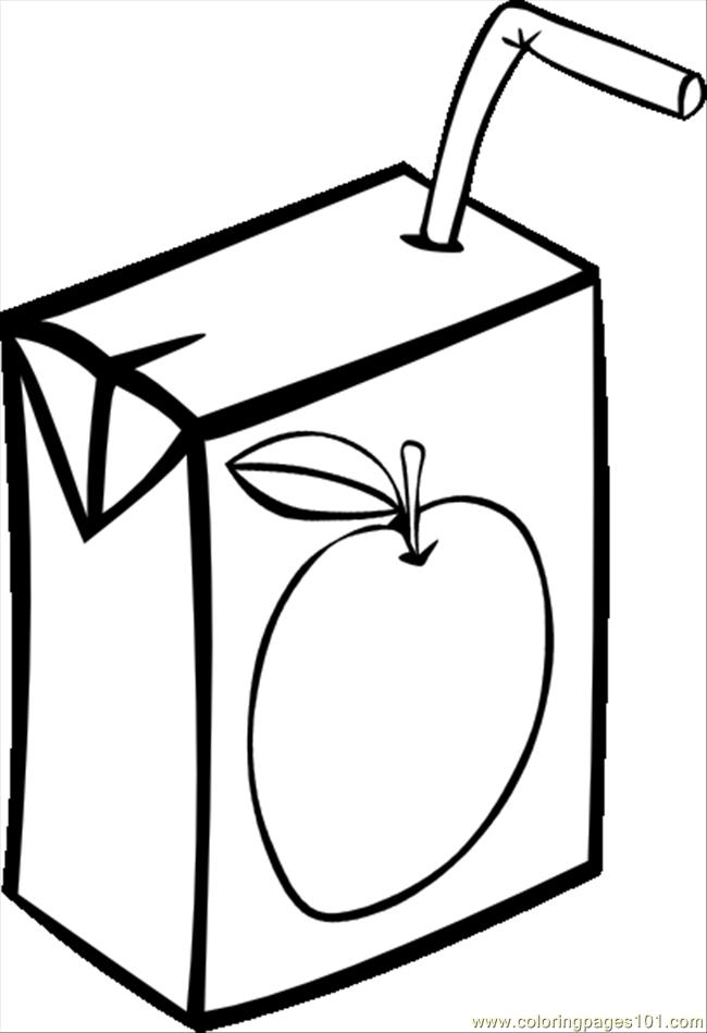 Apple Juice Box Bw.svg.hi Coloring Page