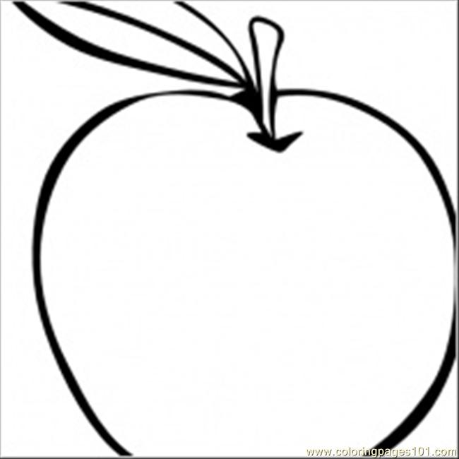 Coloring Fruit Clip Art 11324 Coloring Page Free Apples