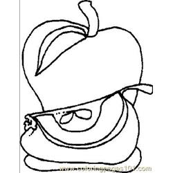 Apple3 Free Coloring Page for Kids