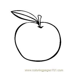 Apple (6) Free Coloring Page for Kids