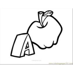 Apple Coloring Page 15