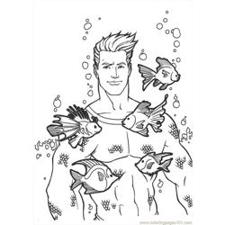 Aquaman 18 coloring page
