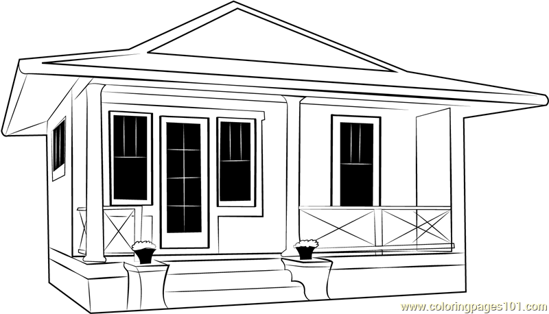 Club Cottage Coloring Page
