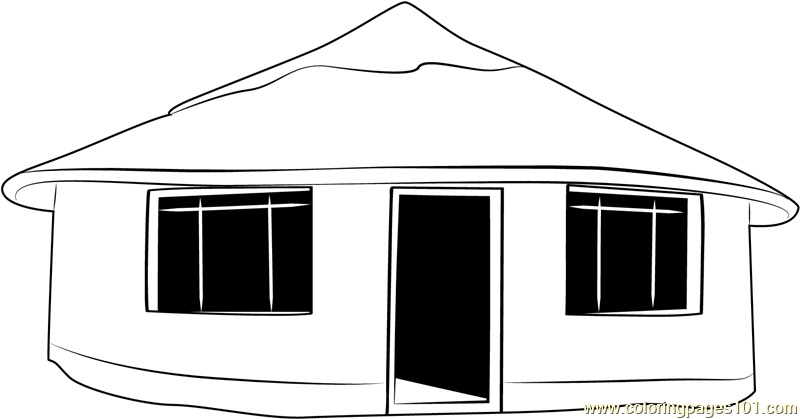 Cool Shimla Tour Cottage Coloring Page