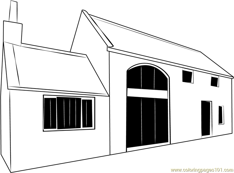 Cottage 1 Coloring Page