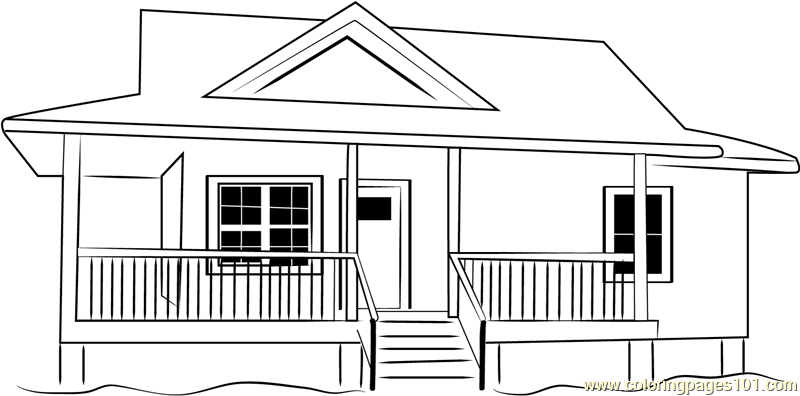 Cottages 3 Coloring Page