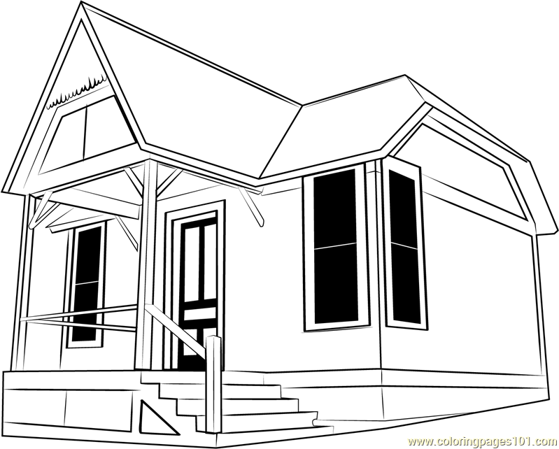 Little Cottage Coloring Page - Free Cottage Coloring Pages ...