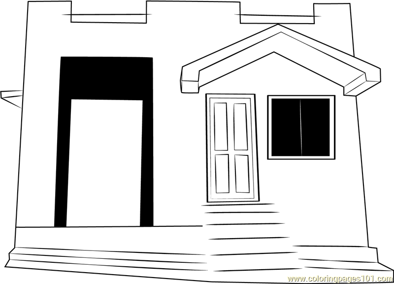 Ooty Cottages Coloring Page