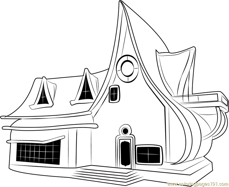 Star Cottage Coloring Page