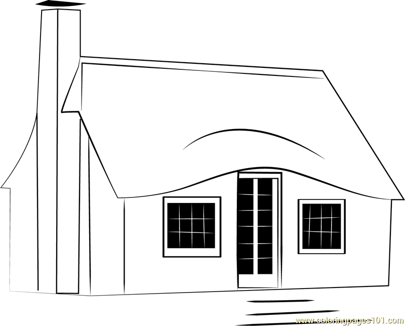 Storybook Cottages Coloring Page