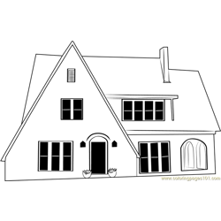 Eng Cottage Free Coloring Page for Kids