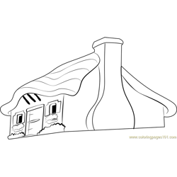 Fairy Tale Cottage Free Coloring Page for Kids
