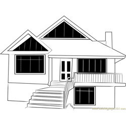 Himkund Cottages Free Coloring Page for Kids