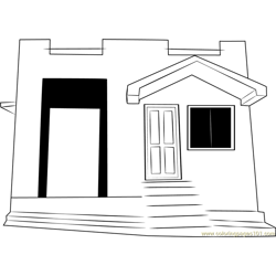 Ooty Cottages Free Coloring Page for Kids