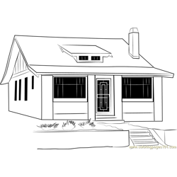 Small and Classy Beautiful Cottage Free Coloring Page for Kids