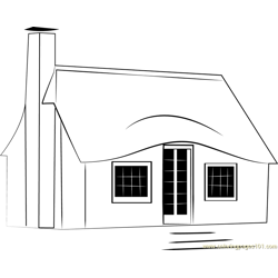 Storybook Cottages Free Coloring Page for Kids