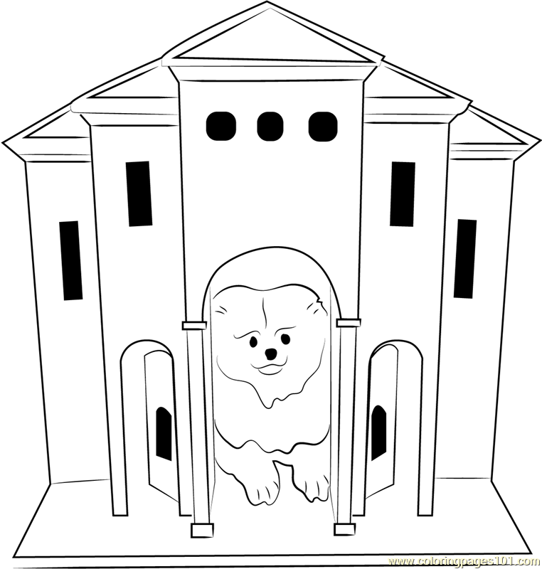 Dog Castle Coloring Page