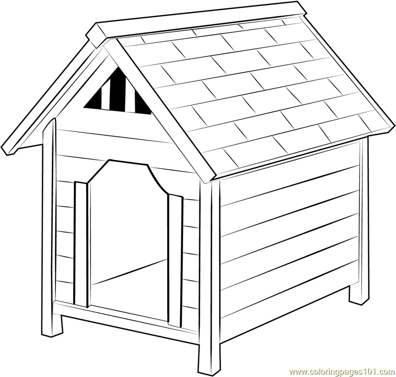 Dog Houses Coloring Page Free