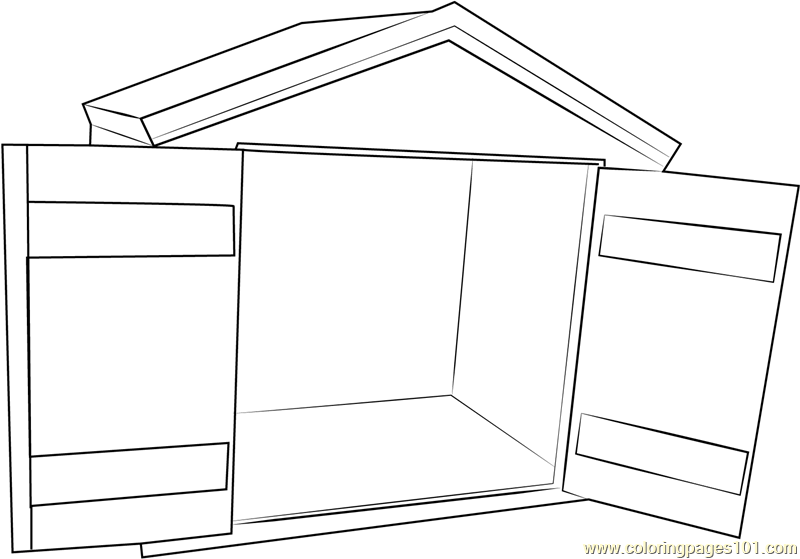 Heated Dog House Coloring Page