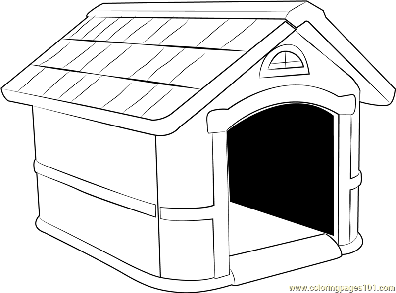 Home For Dog Coloring Page