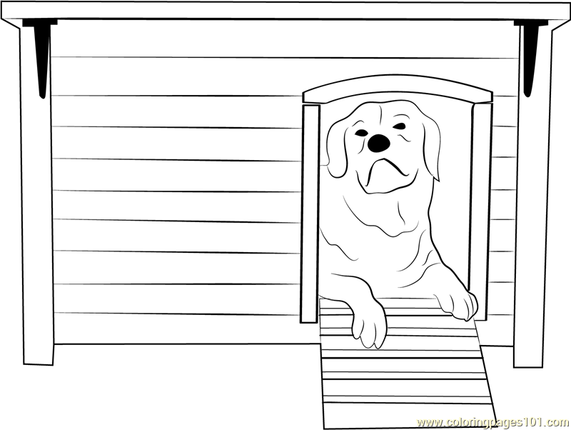 91 Coloring Pictures Of Dog Houses