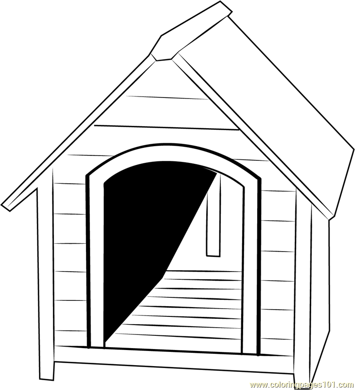 Small Dog House Coloring Page