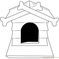 Dog House with Bone