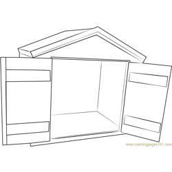 Heated Dog House Free Coloring Page for Kids