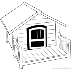 Home 4 Dog Free Coloring Page for Kids