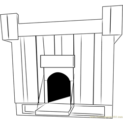 Old Dog House Free Coloring Page for Kids