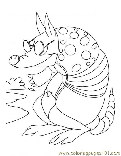 Armadillo Coloring Page2 Coloring