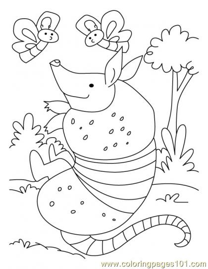 Armadillo Coloring Page4 Coloring