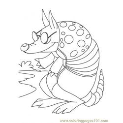 Armadillo Coloring Page2 coloring page