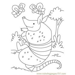 Armadillo Coloring Page4 coloring page