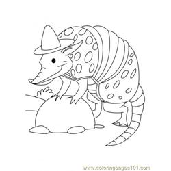 Armadillo Coloring Page6 coloring page