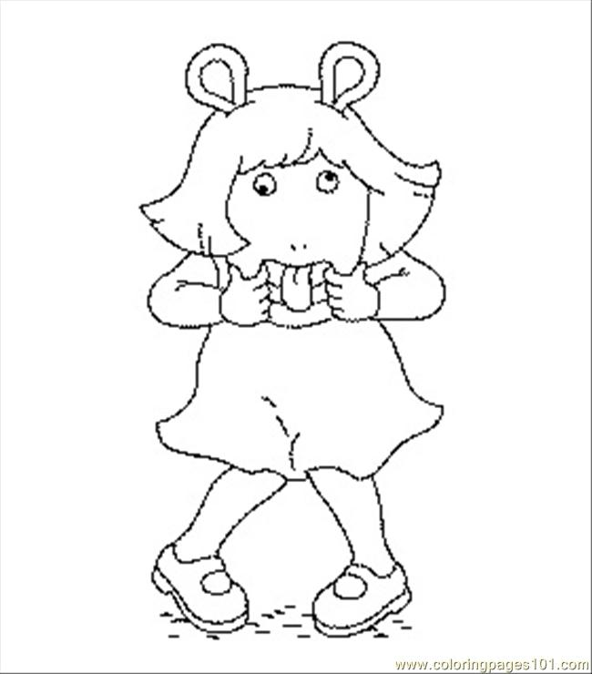Arthur Coloring2 Coloring Page Free Arthur Coloring