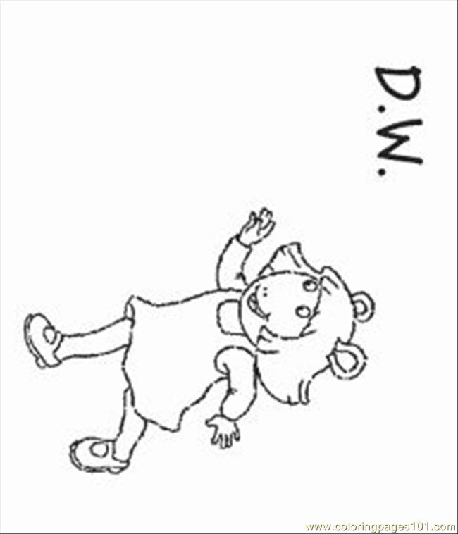 Arthur Coloring Pages 10 Med Coloring Page Free Arthur