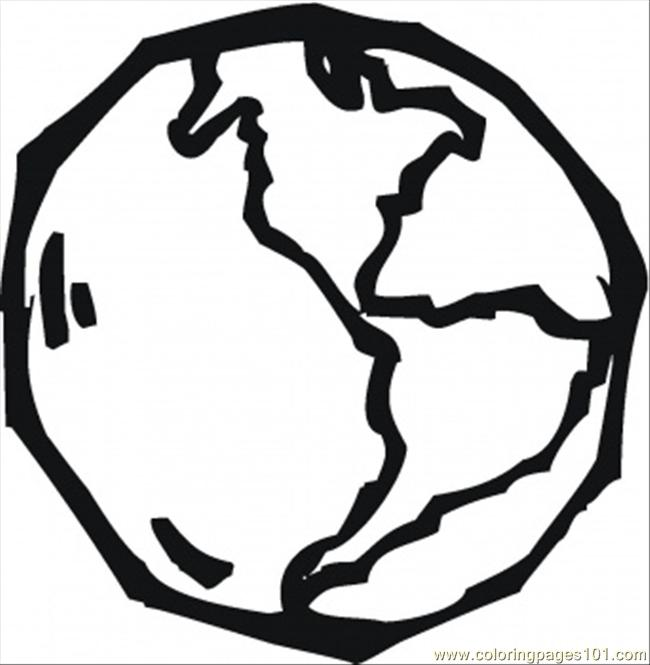 Earth Coloring Page